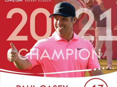 Emotional Paul Casey 'Over The Moon' After Storming To Victory In The Omega Dubai Desert Classic